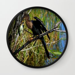 A Darters Meal Wall Clock