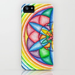 A Drop in the Rainbow Bucket - The Rainbow Tribe Collection iPhone Case