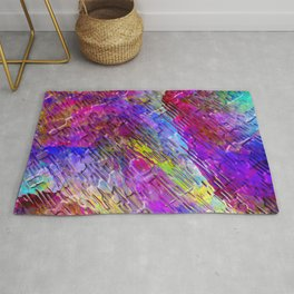 Abstract Water Lights Rug