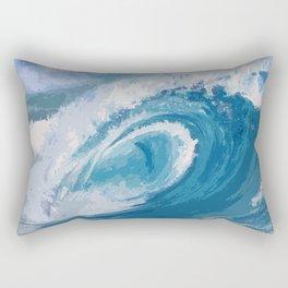 Blue me Away Rectangular Pillow