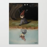 over the garden wall Canvas Prints featuring Over the garden wall by Peetsj