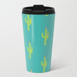 Valentine Homegrown Love Cactus Pattern Travel Mug