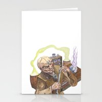 lab Stationery Cards featuring Necromancer's Lab by Sean Greenberg Illustration