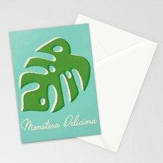 Monstera Aqua Stationery Cards