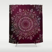 Wine Mandala Shower Curtain