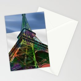 The Eiffel Tower and French Flag,  Stationery Cards