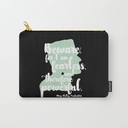 Frankenstein + Mary Shelley Quote #1 + Black Carry-All Pouch