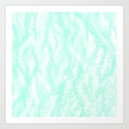 Pastel Mint Waves Art Print