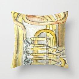Tuba Tubs Throw Pillow