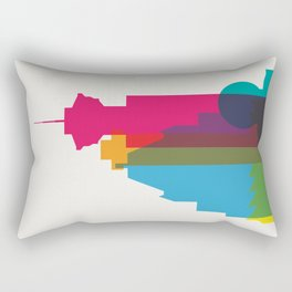 Shapes of Vancouver. Accurate to scale. Rectangular Pillow