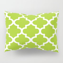 Arabesque Architecture Pattern In Lime Pillow Sham