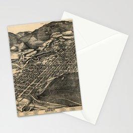 Bird's Eye View of Aspen, Colorado (1893) Stationery Cards