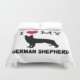 I Love my German Shepherd Design Duvet Cover