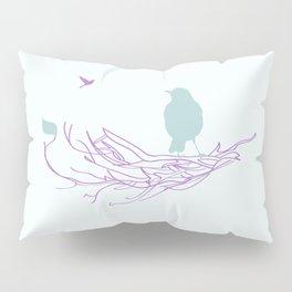 Nest with Bird Pillow Sham
