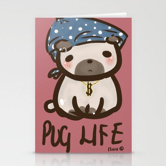 'Pug Life' Stationery Cards