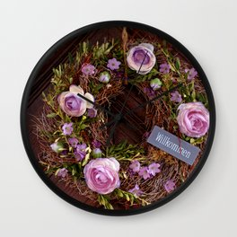 Welcome / Willkommen Wall Clock