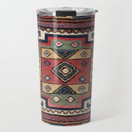 Cowboy Sumakh // 19th Century Colorful Red White Blue Western Lone Star Dallas Ornate Accent Pattern Travel Mug