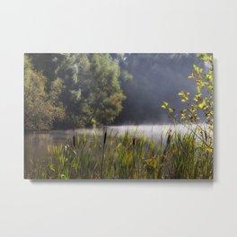 Autumn Mist at Mallards Pike Metal Print