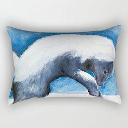 Animal - Antoine the Artic Fox - by LiliFlore Rectangular Pillow