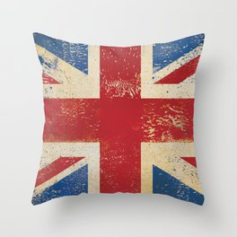 Union Jack UK England Flag British Throw Pillow