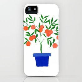 Little orange tree: potted plant VII iPhone Case