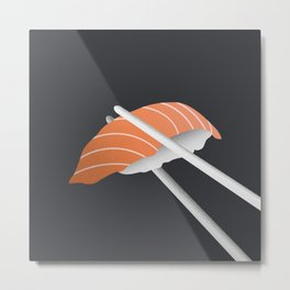 Minimal Sushi Illustration 03 Metal Print