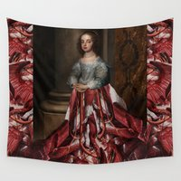 dress Wall Tapestries featuring Meat Dress by DIVIDUS