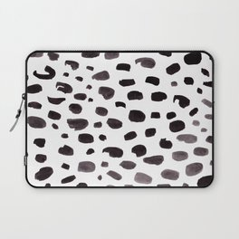 Dalmation Spots Painted Watercolor Pattern Laptop Sleeve