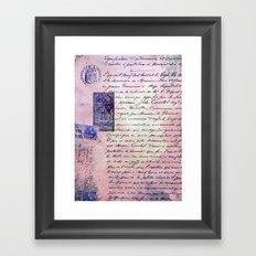 aérogramme Framed Art Print