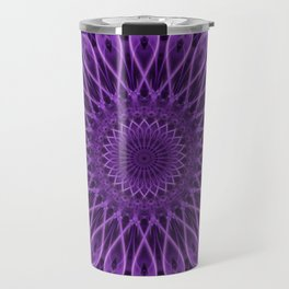 Floral mandala in violet tones Travel Mug