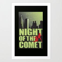 NIGHT OF THE COMET (Alternative Movie Poster) Art Print