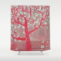 blossom Shower Curtains featuring Blossom by Nic Squirrell