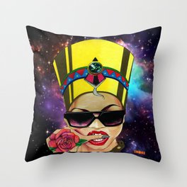 Modern Day Nefertiti Galaxy  Throw Pillow