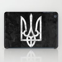 ukraine iPad Cases featuring Ukraine Black Grunge by Sitchko Igor