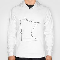 minnesota Hoodies featuring Minnesota by mrTidwell