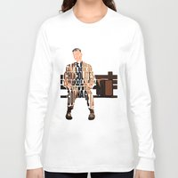 forrest Long Sleeve T-shirts featuring Forrest Gump by Ayse Deniz