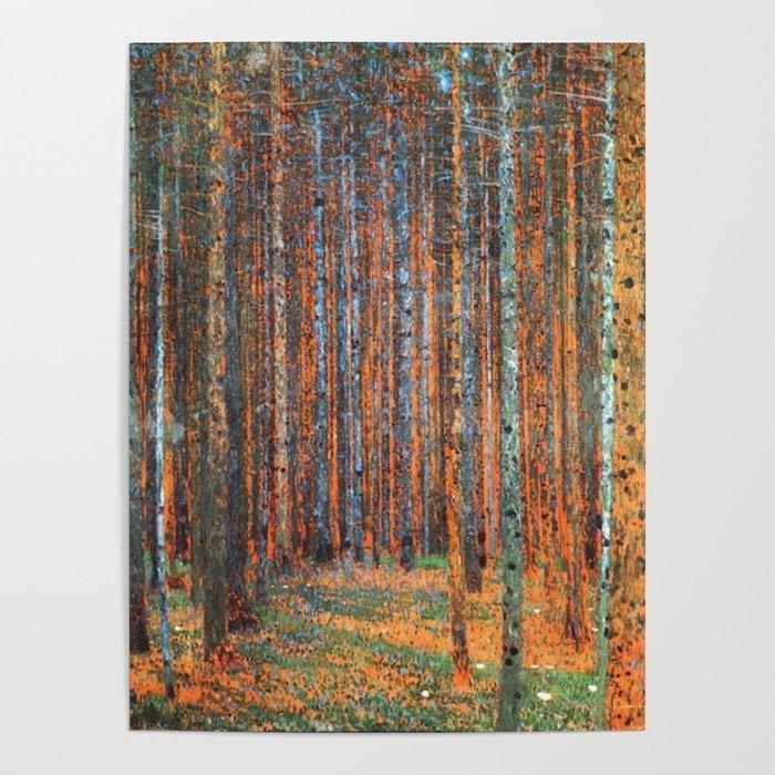 Tannenwald Gustav Klimt Poster