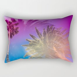 Palm Tree Skyline Rectangular Pillow