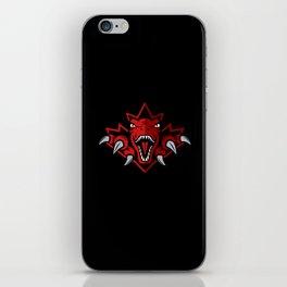 Dino Red Leaf iPhone Skin