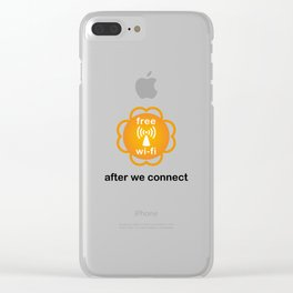 Let's connect Clear iPhone Case