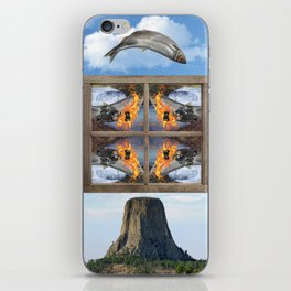Flying Fish Over Devils Tower iPhone Skin