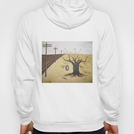 Tire Swing, Old Tree and Swing Painting Hoody