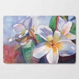 Tropical Plumeria Flowers Cutting Board