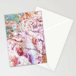 Multicolor geode amethyst slice Stationery Cards