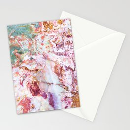 Multi colored geode amethyst slice Stationery Cards