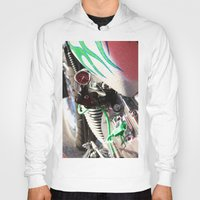 motorcycle Hoodies featuring Motorcycle by Carlo Toffolo