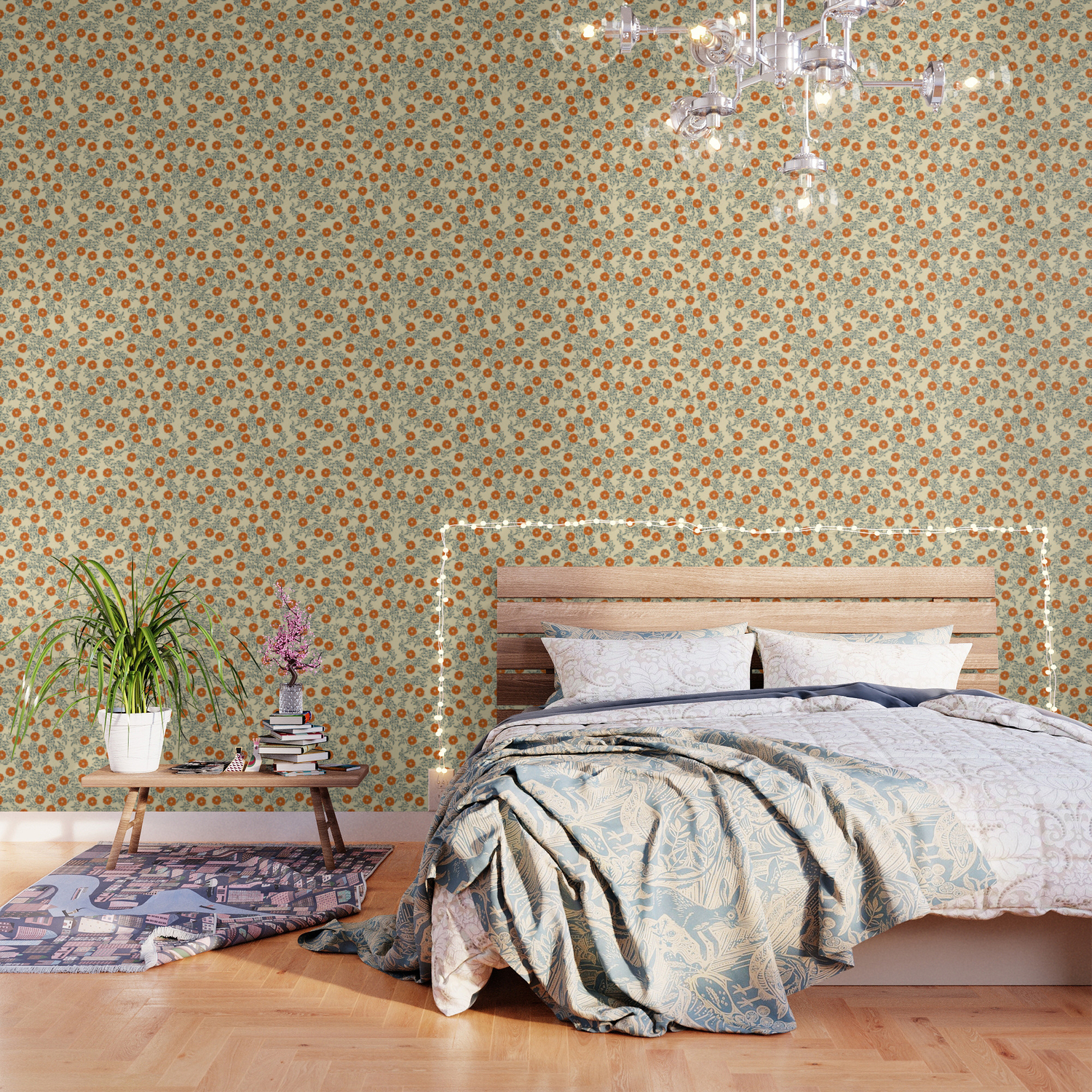 60s Floral Wallpaper By Themaxwells Society6