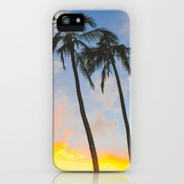Sunset of the Palm Trees - Honolulu, Hawaii iPhone Case