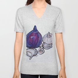 Onion And Garlic Unisex V-Neck