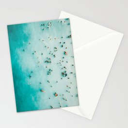 Beach Photography, Aerial Blue Ocean Print, Large Turquoise Ocean Poster, Coastal Wall Art, Beach Stationery Cards